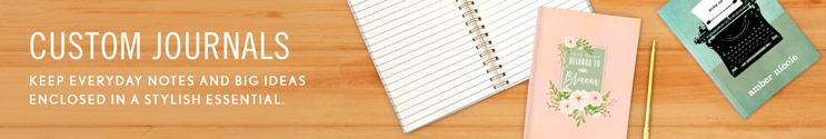 Custom Journals & Notebooks